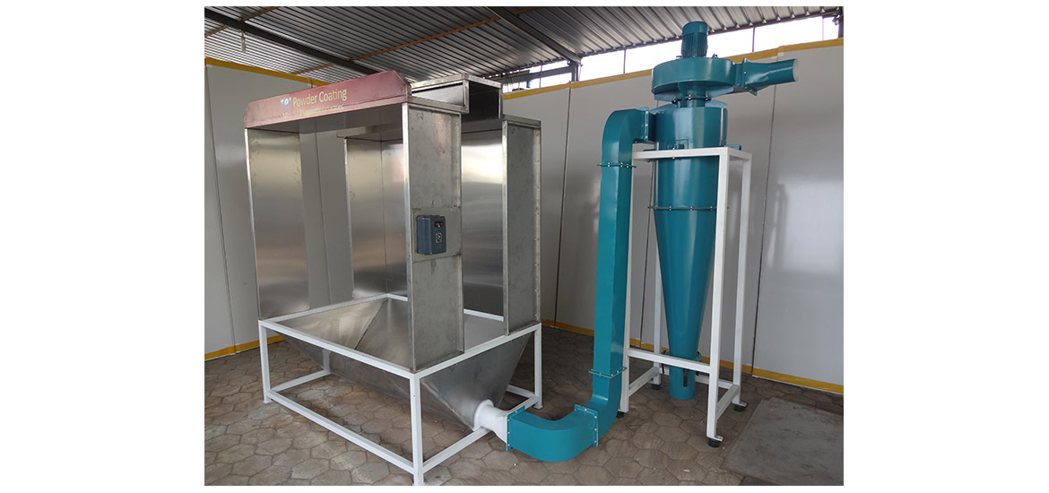 Powder coating booth manufacturers suppliers in india for Powder coating paint booth